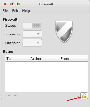 Comice OS 4 Unlock Gufw Firewall