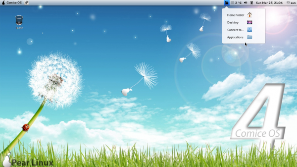 Pear Linux Comice OS 4 Netbook screen shot preview
