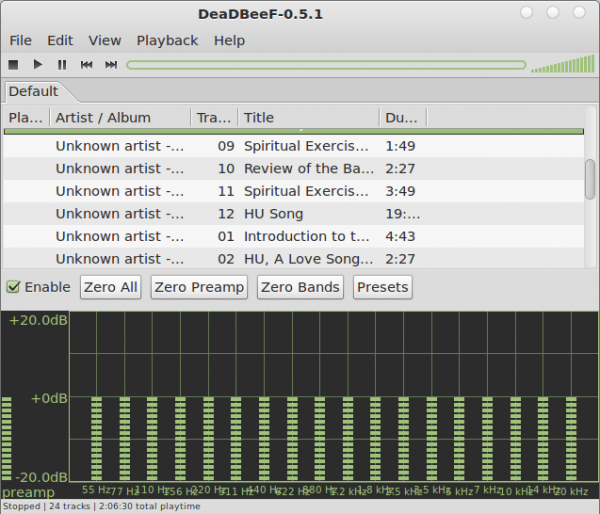 DeaDBeeF Audio Player