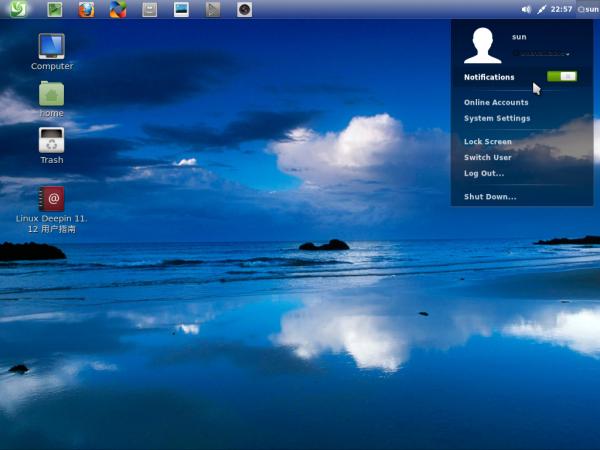 Linux Deepin 11.12.1 Desktop Custom