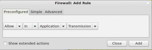 Linux Deepin Gufw Rule