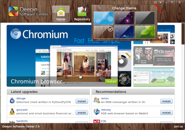 Linux Deepin Software Center Themes