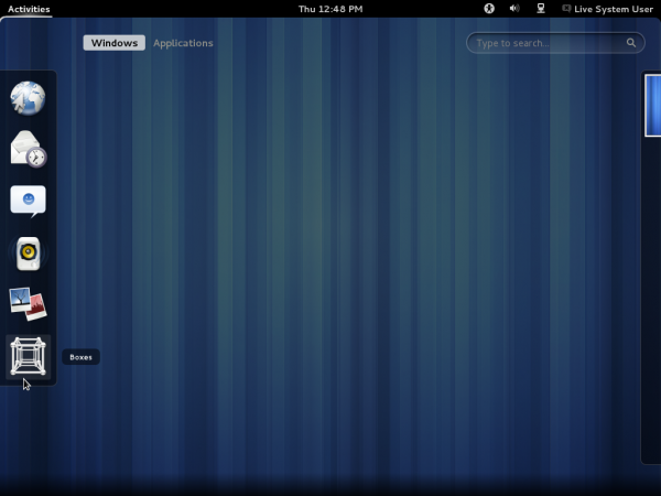 GNOME 3.4 Dock