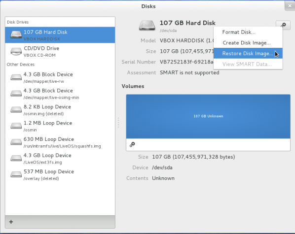 GNOME 3.4 Disks