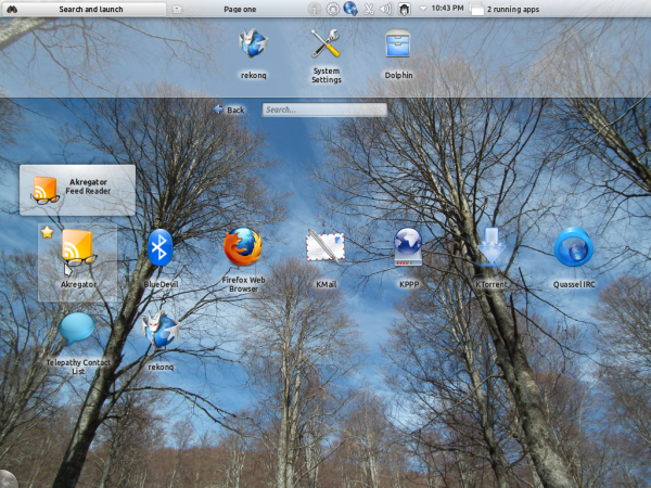 Kubuntu 12.04 Plasma Netbook