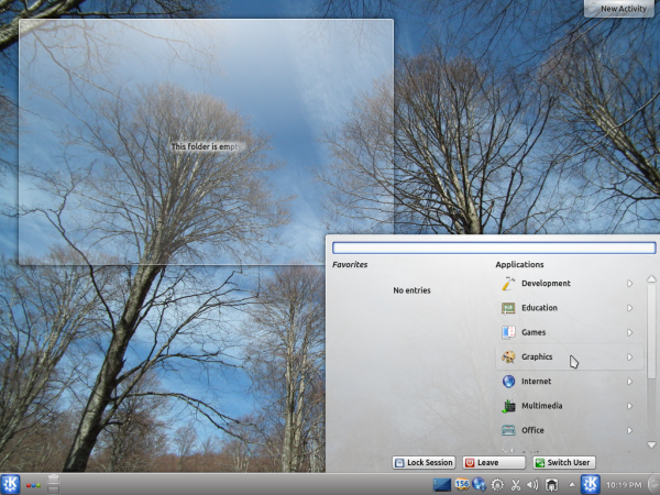 Kubuntu 12.04 AppQML Menu