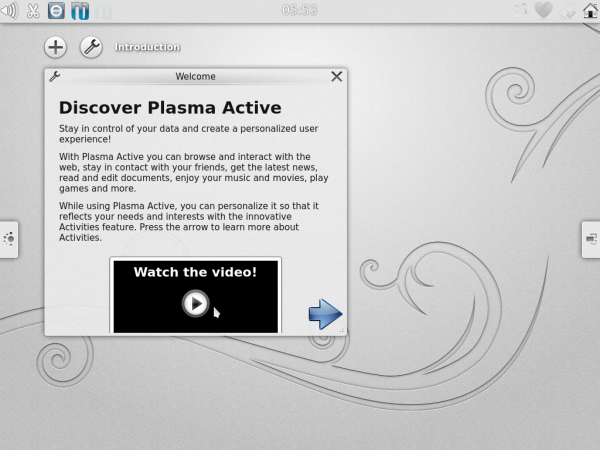 Kubuntu-Active 12.04 Welcome