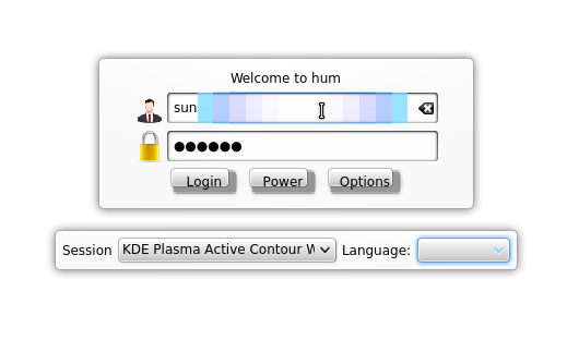 Kubuntu-Active Login Screen
