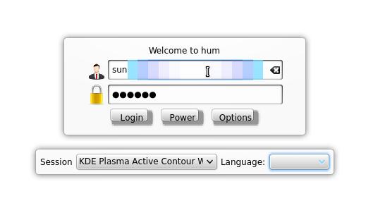Kubuntu-Active Login Screen