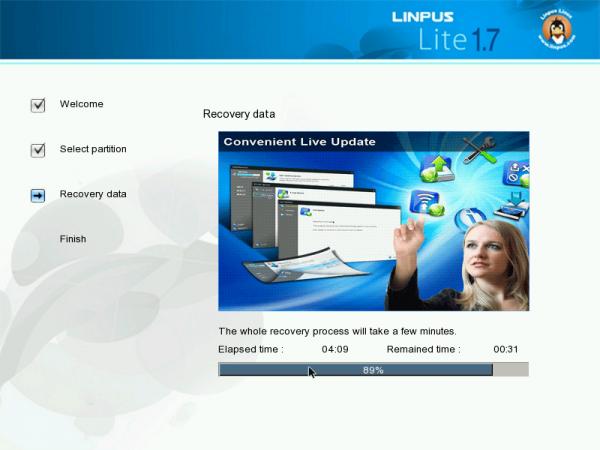 Linpus Lite Desktop 1.7 Installer Status