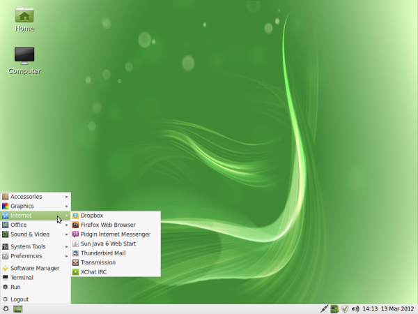 Linux Mint 12 LXDE Wallpaper