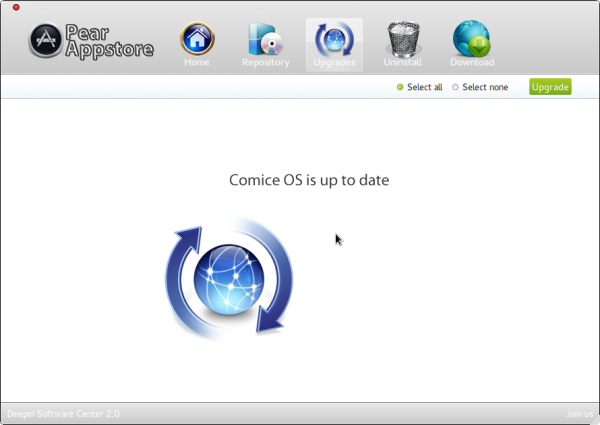 Pear Linux Comice OS 4 Appstore Updated