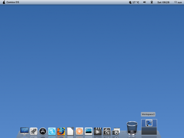 Pear Linux Comice OS 4 Dock