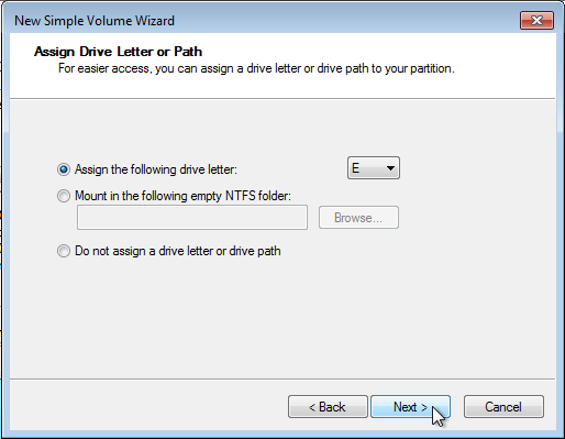 Windows 7 Partition Manager Drive Letter