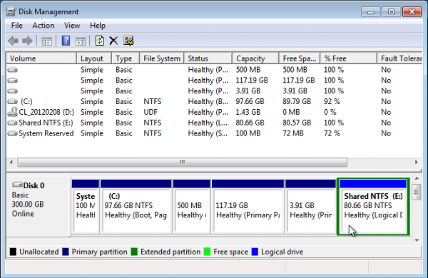 Windows 7 Partition Manager NTFS Partition