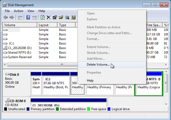 Windows Partition Manager Delete Linux Partitions