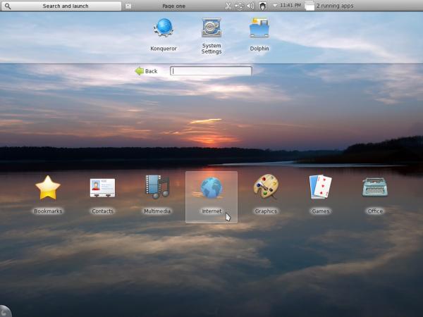 Chakra Archimedes KDE Plasma Netbook