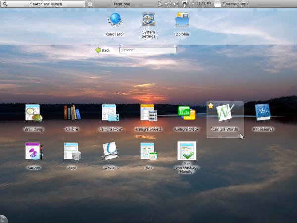 Chakra Archimedes KDE Plasma Netbook Apps
