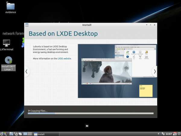 DEFT Install Slideshow LXDE
