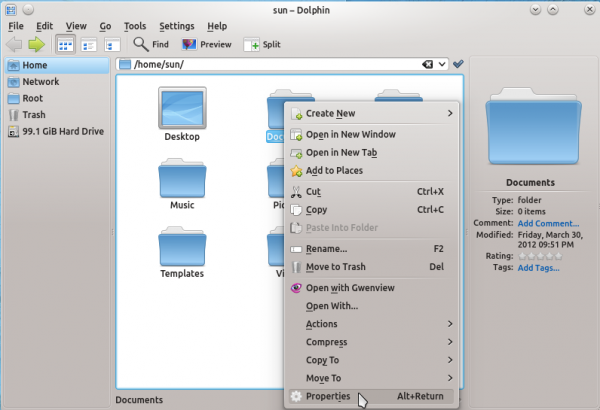 KDE Dolphin ROSA Folder Icons