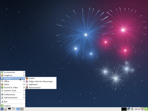 Fedora 17 Beta LXDE Desktop