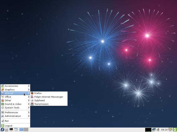Fedora 17 Beta LXDE Desktop