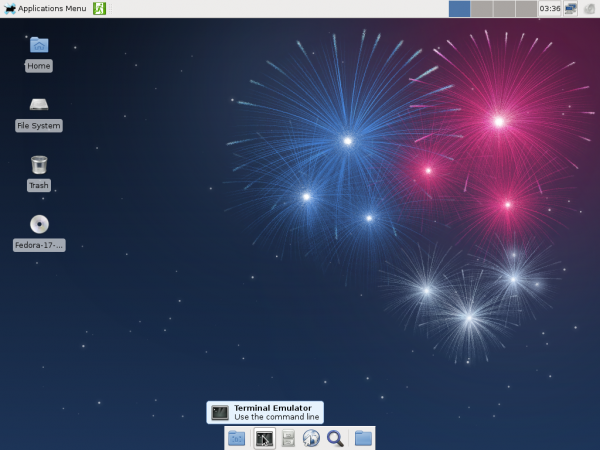 Fedora 17 Beta Xfce Desktop