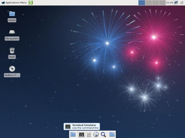Fedora 17 Beta Xfce Desktop