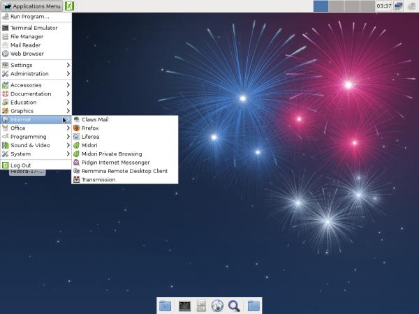 Fedora 17 Beta Xfce Internet Apps