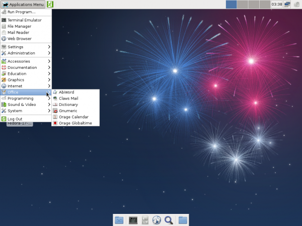 Fedora 17 Beta Xfce Office Apps