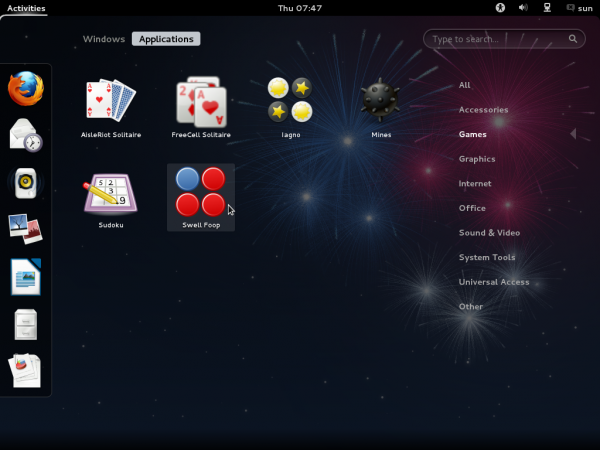 Fedora 17 GNOME Game Apps
