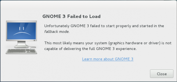 GNOME 3 Fallback Mode