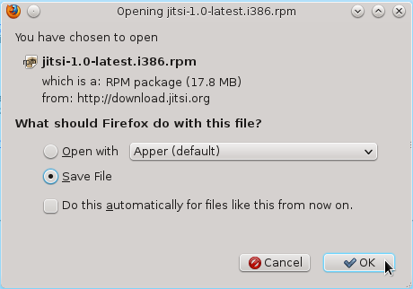 How to install Jitsi in Fedora