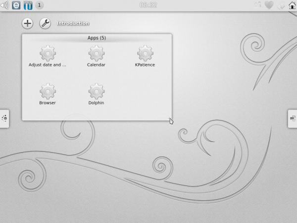 Kubuntu Active App Menu