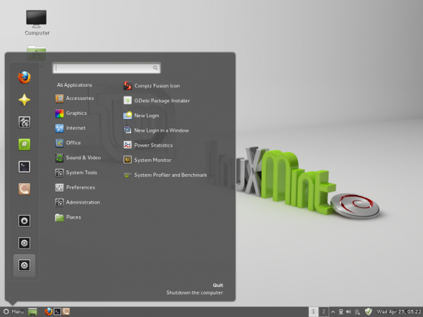 Linux Mint Debian Cinnamon Desktop