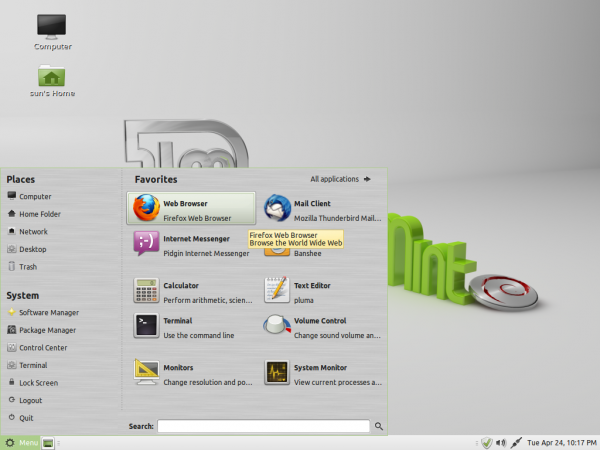 Linux Mint Dedian MATE Desktop