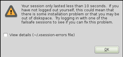 Linux Mint Debian Login Session Error