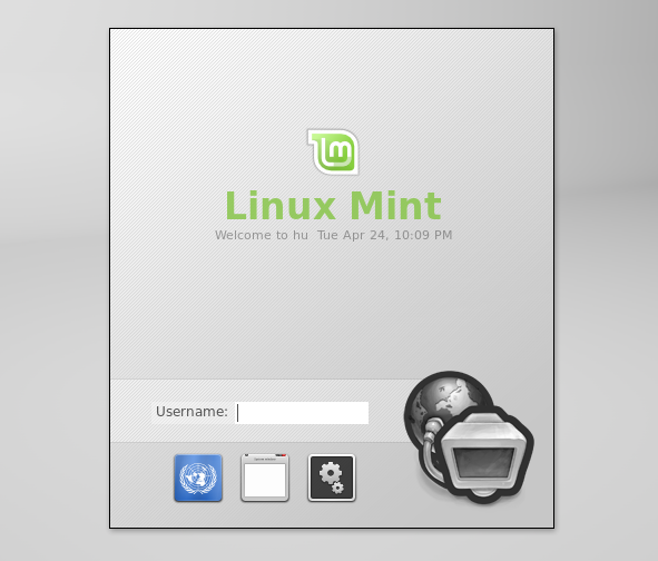 Linux Mint Debian Login Screen MDM
