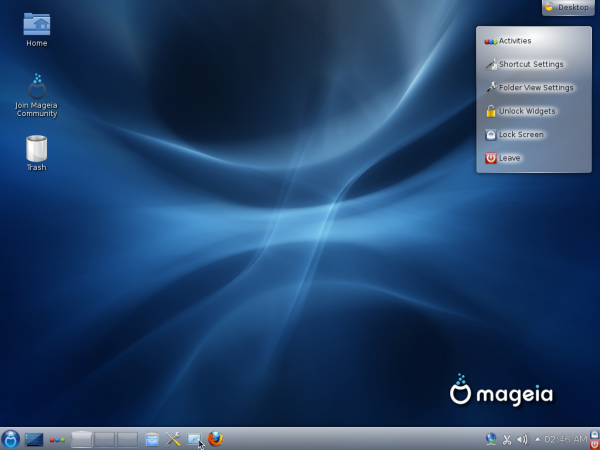 Mageia 2 Beta 3 KDE Desktop