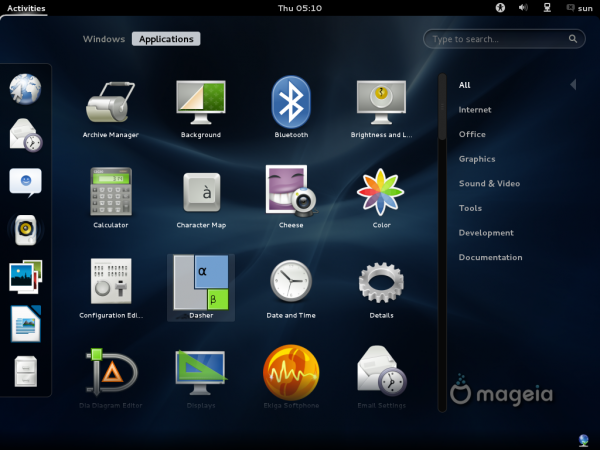 Mageia 2 Beta GNOME Apps