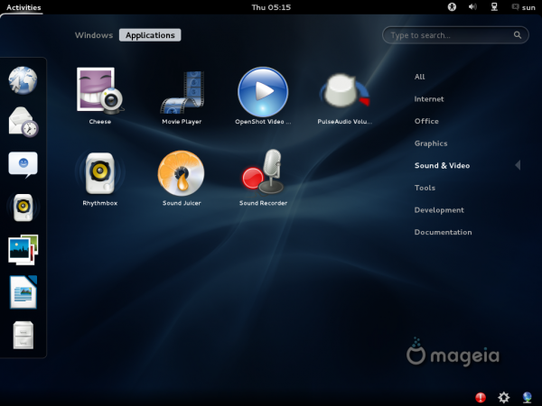 Mageia 2 Beta GNOME Multimedia Apps