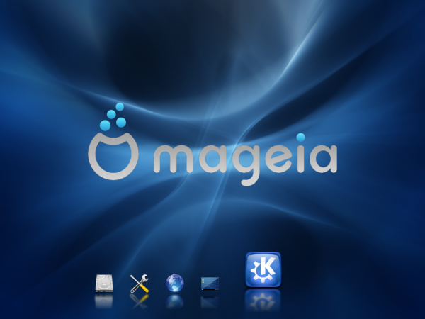 Mageia 2 Beta 3 KDE Splash Loading