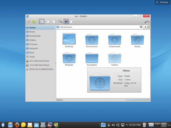 ROSA Desktop 2012 Dolphin File Manager