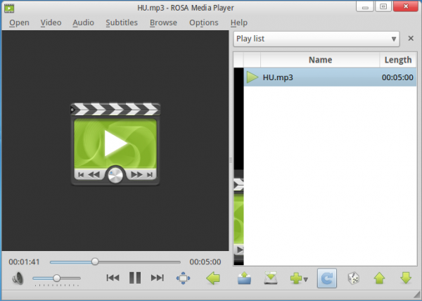 ROSA Media Player Audio