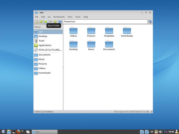 ROSA 2012 LXDE Desktop PCManFM