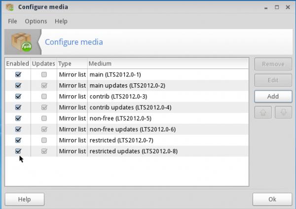 ROSA 2012 LXDE Desktop Repo Manager