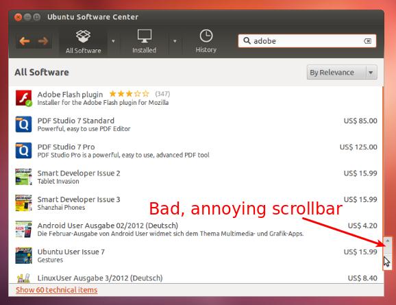 Ayatana Scrollbar Ubuntu 12.04