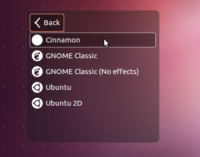 Ubuntu 12.04 Session Menu