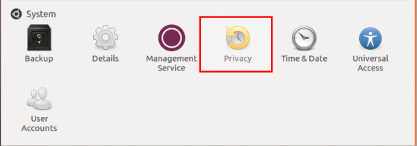 Ubuntu 12.04 System Settings Privacy