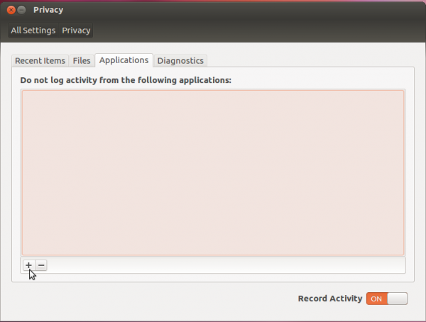 Ubuntu 12.04 Application Privacy